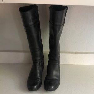Alfani step 'n flex black leather riding boots